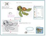Nemo Turtle free mini cross stitch pattern