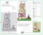 free valentine bunny chart
