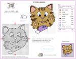 Kitten Pounce Cross Stitch Pattern