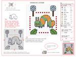 Caterpillar Lollipop free cross stitch chart