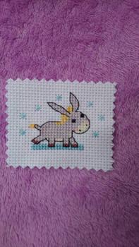 Tiny Donkey cross stitch
