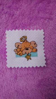 Angel Puppy tiny cross stitch