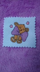 Bow Bear cross stitch