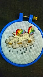 Rainbow unicorn cross stitch pattern