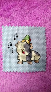 Elf guinea pig cross stitch