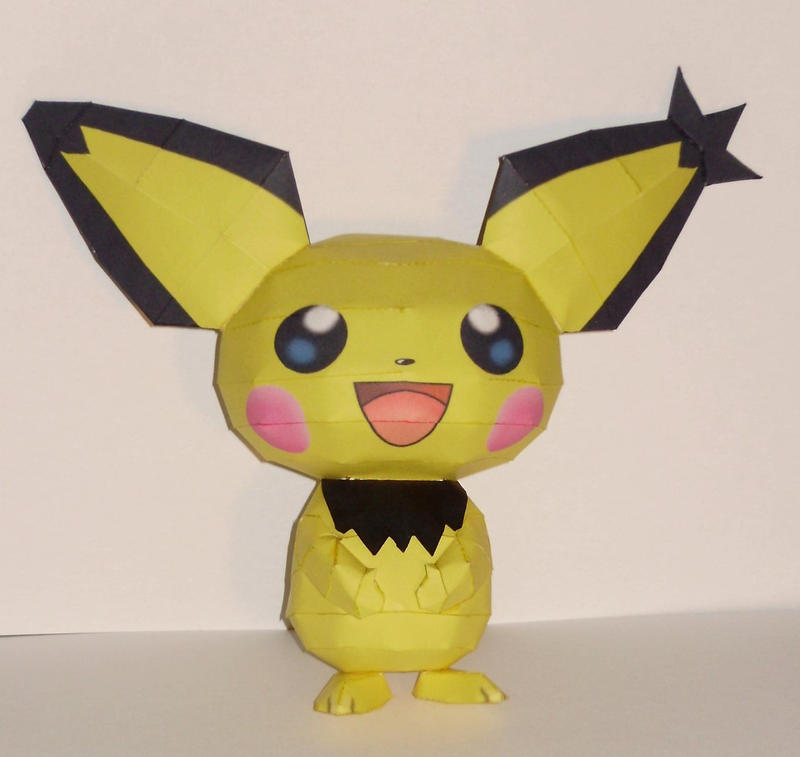 how to make pikachu papercraft