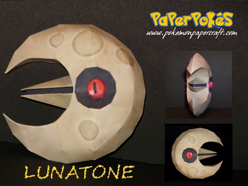 Lunatone Papercraft by Skeleman