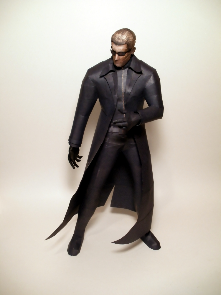 Albert Wesker Papercraft by Skeleman