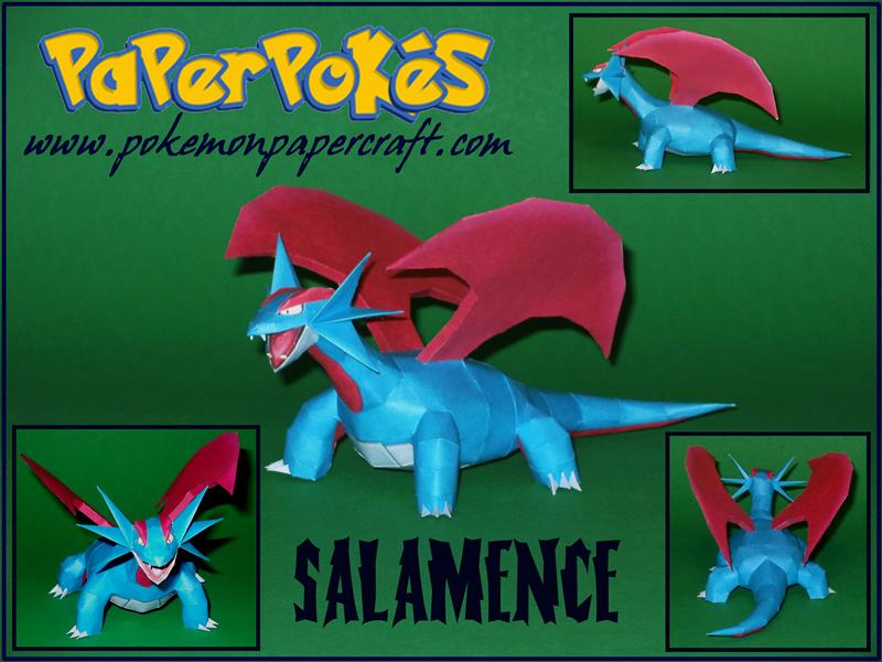 Salamence Papercraft by Skeleman