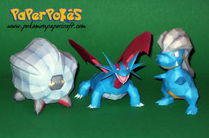 Bagon and Evolutions by Skeleman