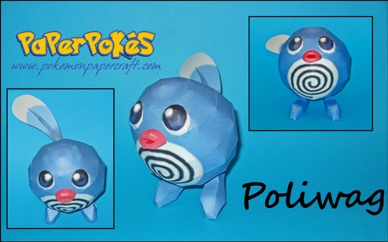 Poliwag Papercraft by Skeleman