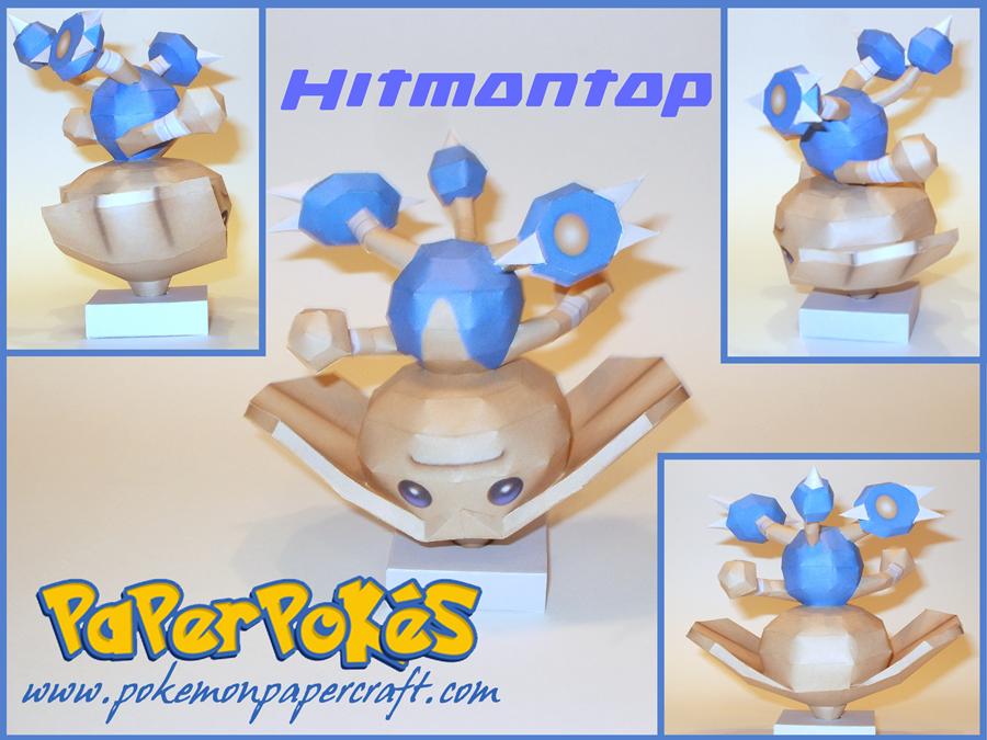 Hitmontop Papercraft by Skeleman