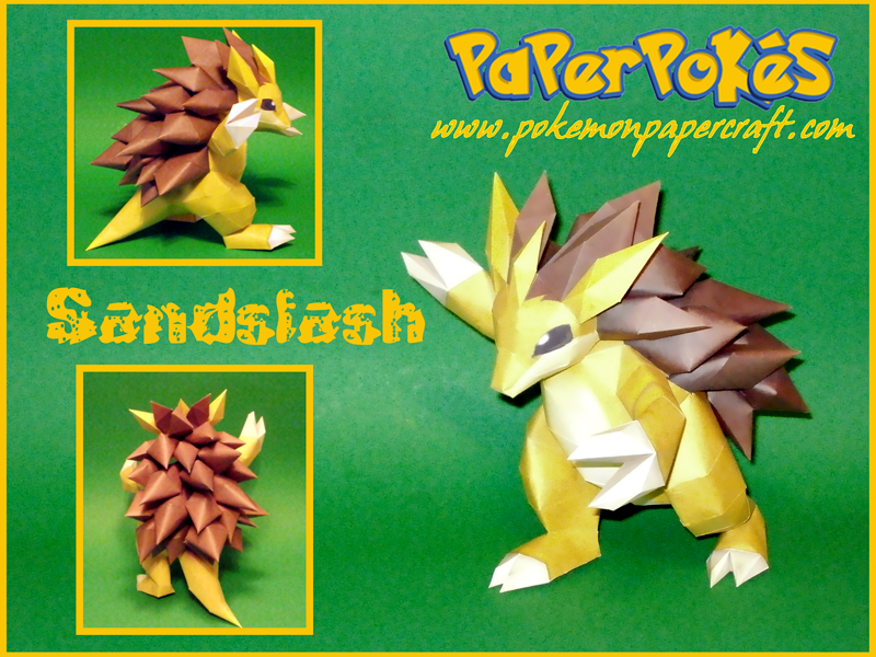 Sandslash Papercraft by Skeleman