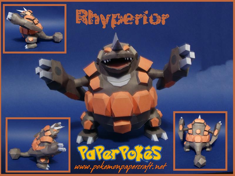 Rhyperior Papercraft by Skeleman