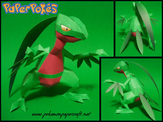 Grovyle Papercraft by Skeleman