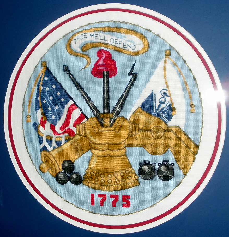 US Army Emblem Cross Stitch by Skeleman