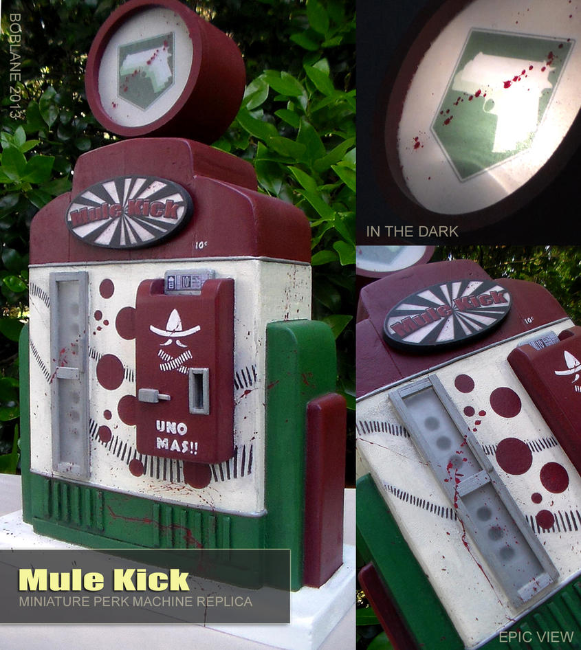 Call of Duty Miniature - Mule Kick Perk Machine by faustdavenport