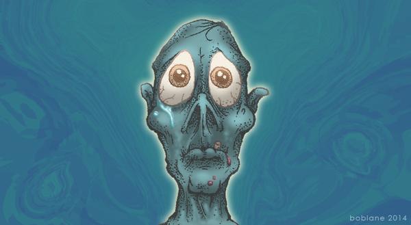 Sad Zombie Doodle by faustdavenport