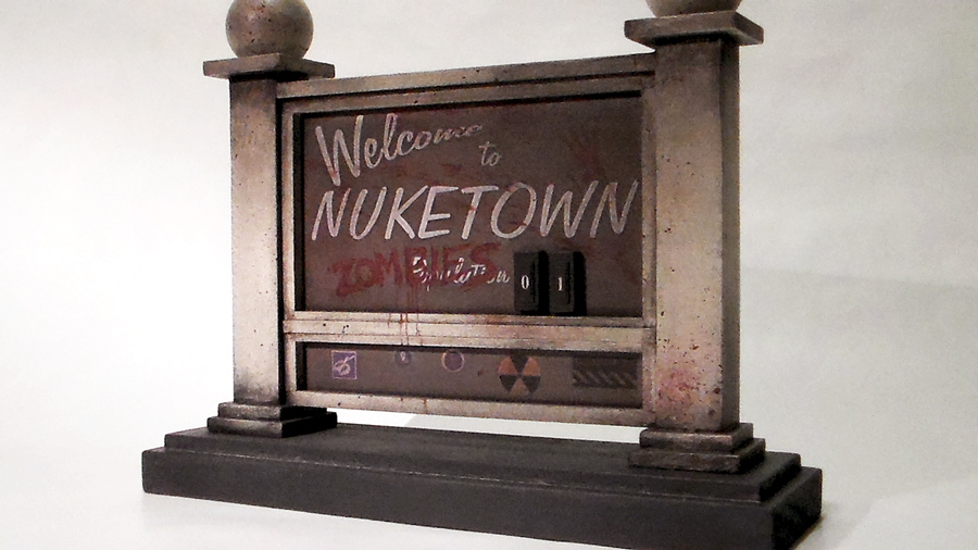 Nuketown Zombies Sign - Call of Duty Miniature by faustdavenport
