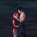 SasuSaku - Rain Embrace by CrimsonCypher