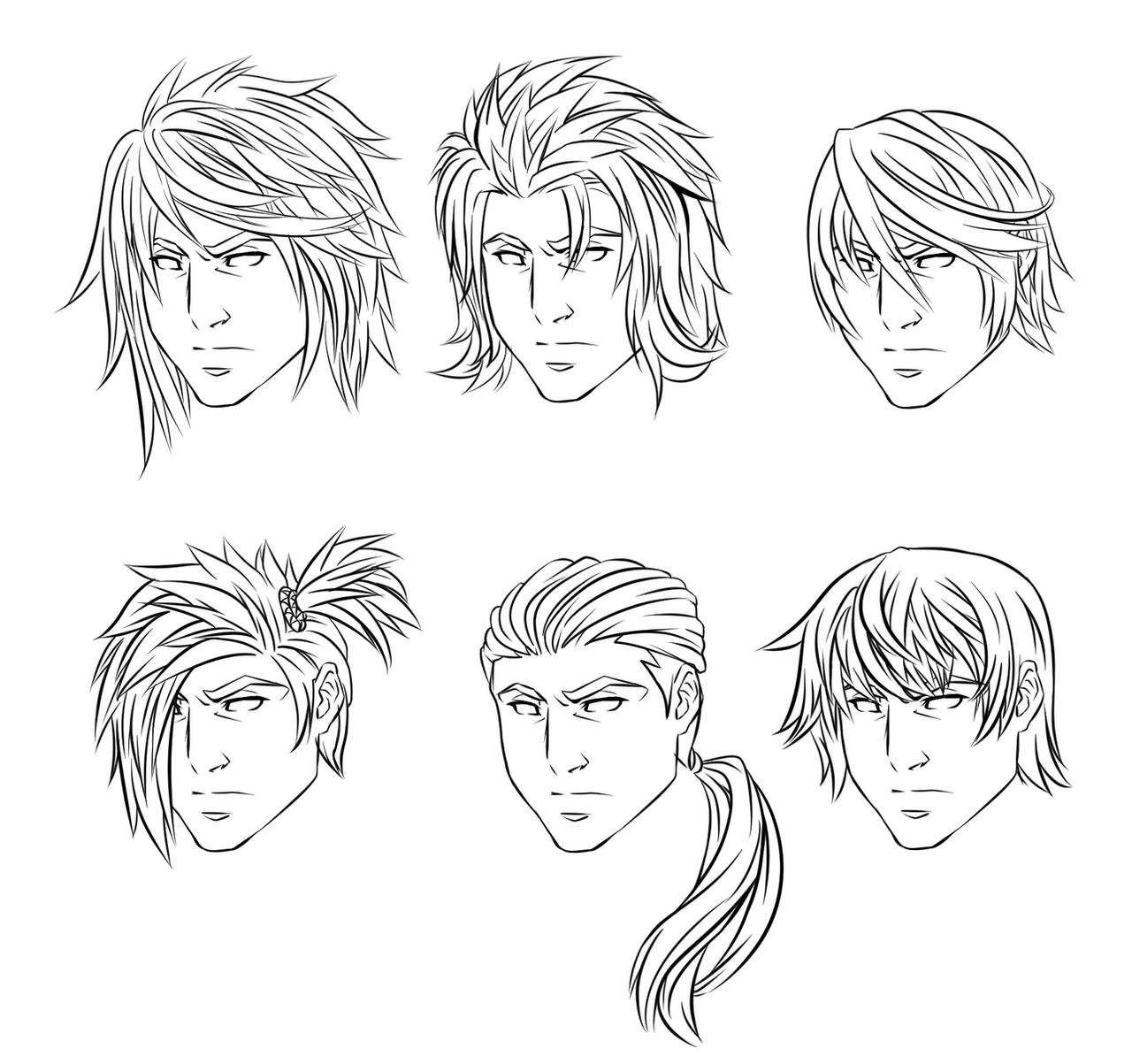 male anime hair styles anime hairstyles by crimsoncypher on deviantart 3083 | anime male hairstyles by crimsoncypher d8j1x8t