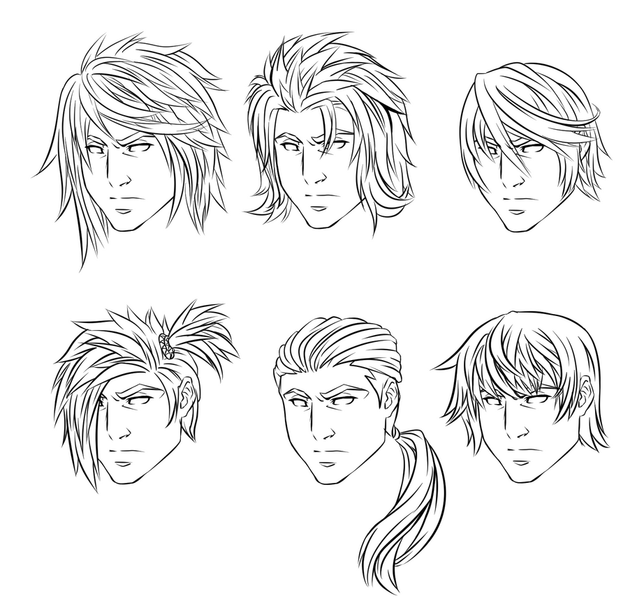 Anime Male Hairstyles by CrimsonCypher on DeviantArt