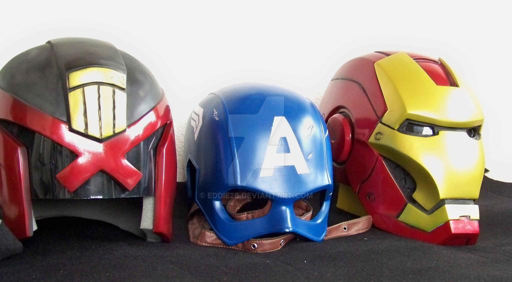 helmets avengers by Eddie2B