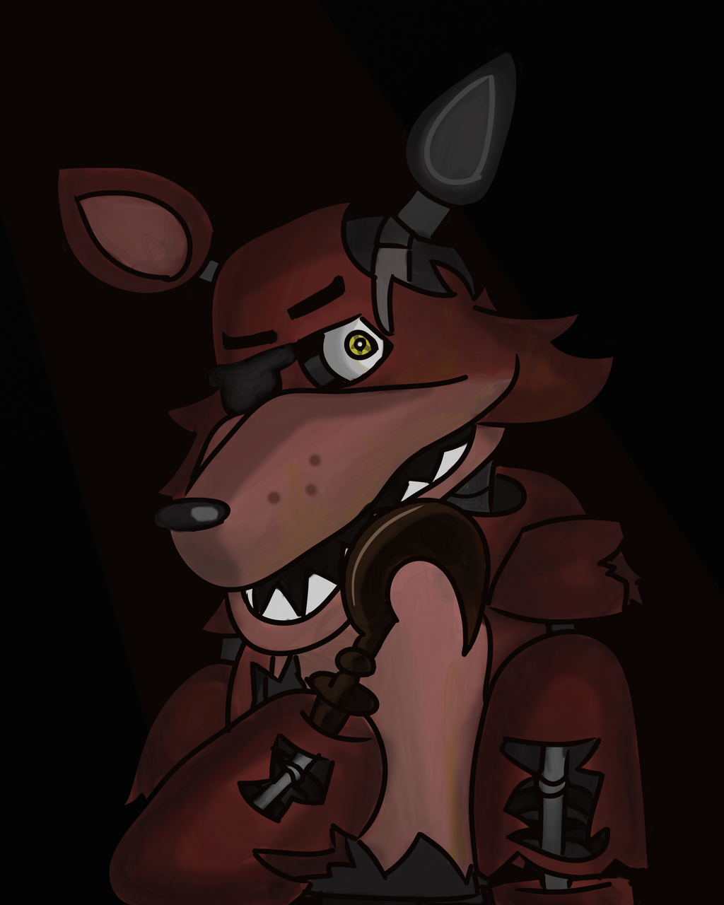 The Good Old Days -Withered Foxy- (FNAF) By Zeronucks On