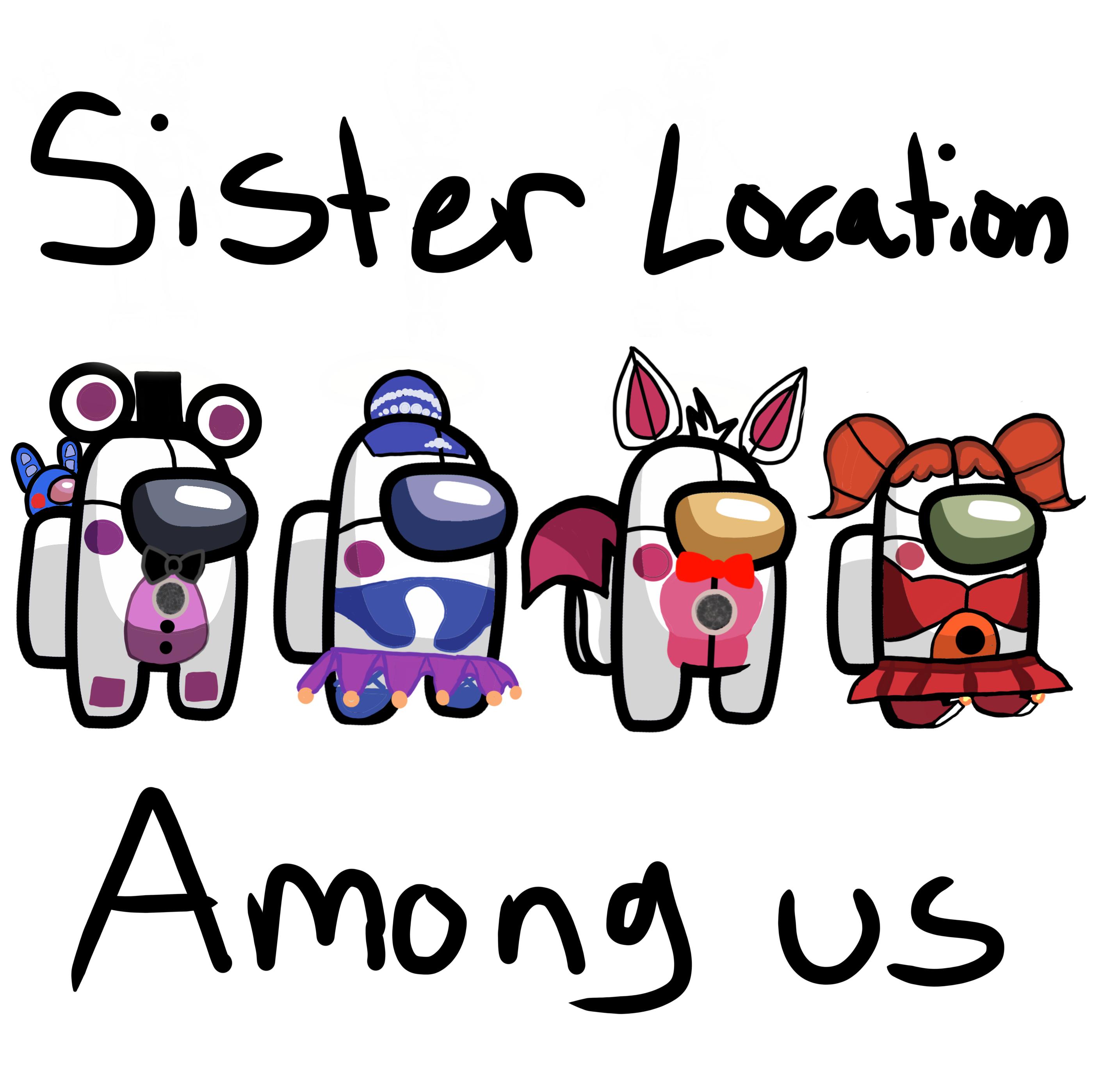 Sister Location Among Us Skins By Carmendelgado0306 On Deviantart