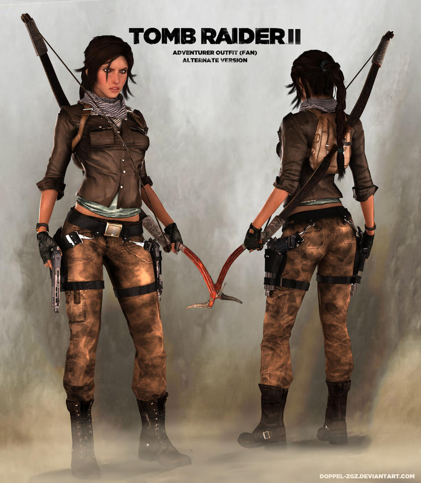 Wallpaper Lara Croft Shadow Of The Tomb Raider Concept: TOMB RAIDER 2: Lara Concept Outfit (alternate) By DoppeL