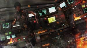 Escape from sunken submarine