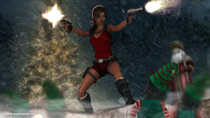 Lara croft and The christmas spirit