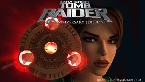 Tomb Raider Anniversary edition: main menu by doppeL-zgz