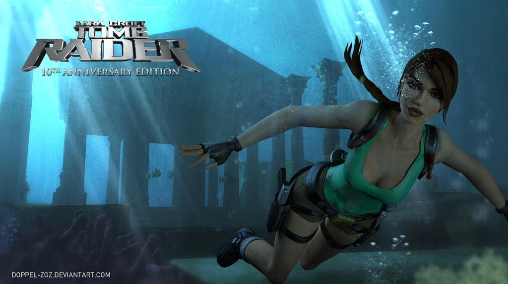 Tomb Raider Anniversary Edition Underwater Temple By Doppel Zgz On Deviantart