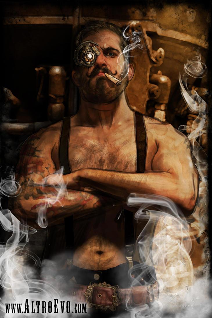 Steampunk BLacksmith Character by AltroEvo