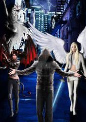 Digital illustration for Urban Fantasy BookCover