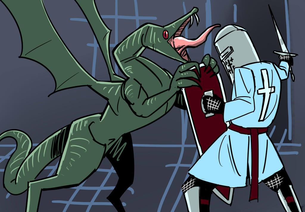 Dragon Fight by cyberanimealien