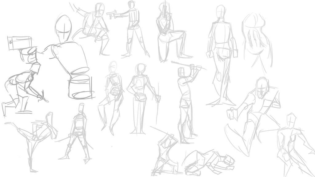 Random 021 pose study by cyberanimealien