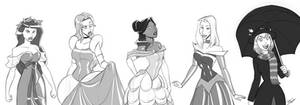 Marvel Princesses by alienhominid2000
