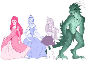 Princesses and Gods by alienhominid2000