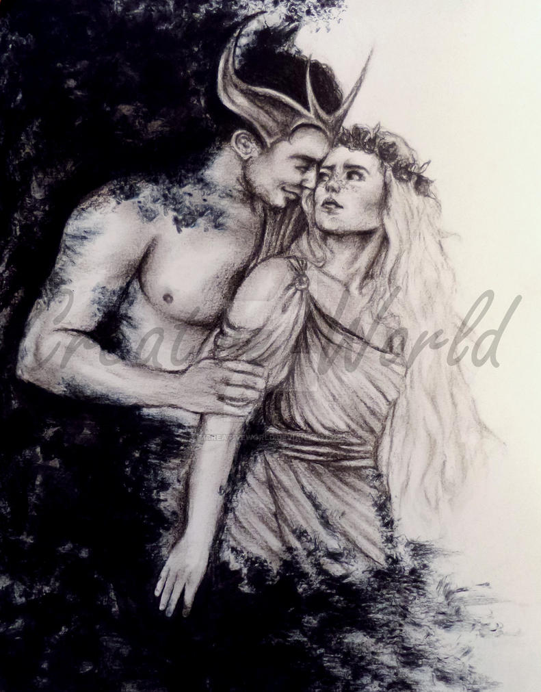 Hades and Persephone by MCreativeWorld