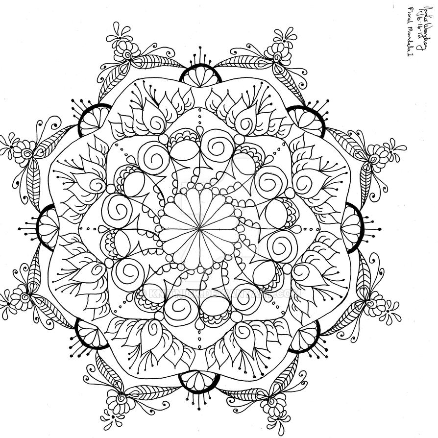 floral mandala 1 by knitnick on DeviantArt