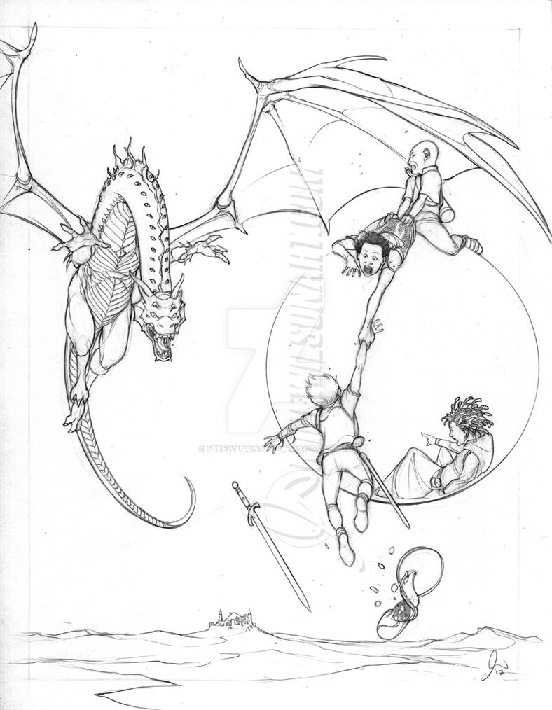 Dragon Kids 01 Pencils Small by mikewilsonart