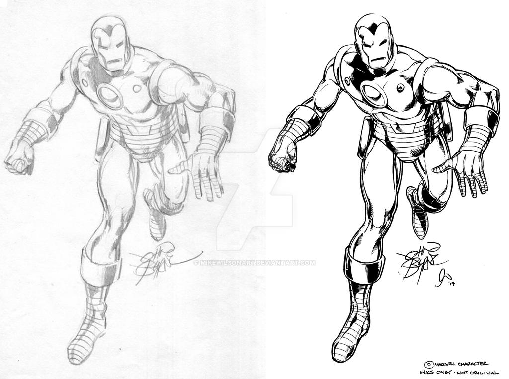 Jb Iron Man Inks 001 Small by mikewilsonart