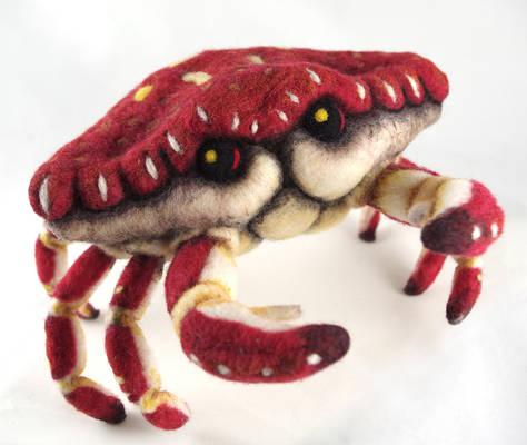 Needle Felt Crab
