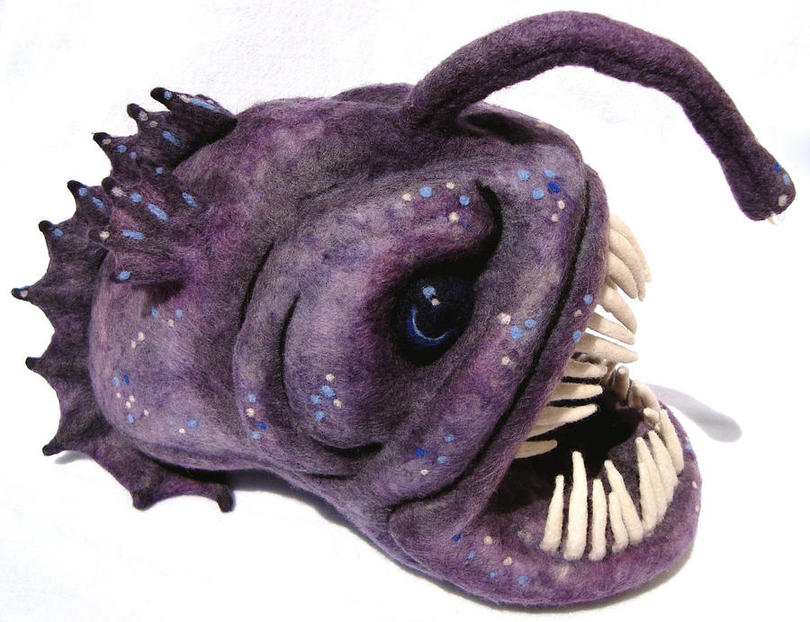 Angler fish by alwayssuagarcoated on deviantart for Angler fish toy