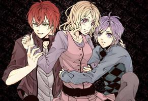 Diabolik Lovers - Ayato, Kanato, and Yui by Re-de-Luce