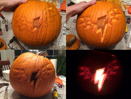 Wonderbolts Logo Pumpkin Carving by Warhorse26