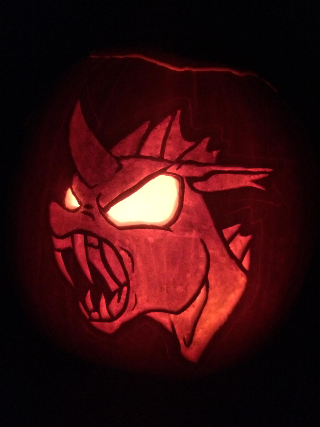 Angry Changeling Pumpkin Carving by Warhorse26
