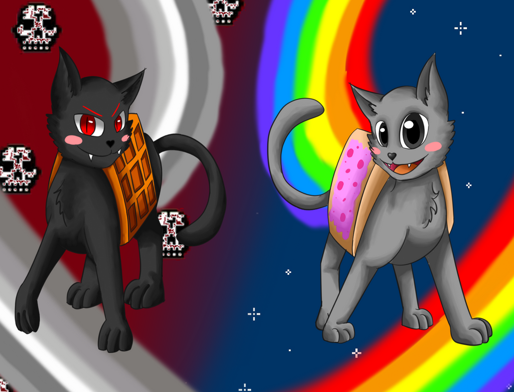 nyan cat and tac nayn by creytor on deviantart